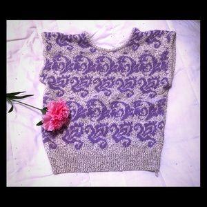 Sweaters - 🆒 VINTAGE SWEATER Gray & Purple Size L